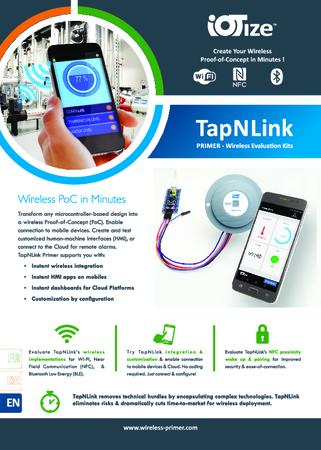 TapNLink Primer WIFI, NFC, BLE Evaluation Kit